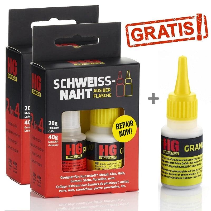 Schweißnaht aus der Flasche Regular 2er Pack + Granulat gratis